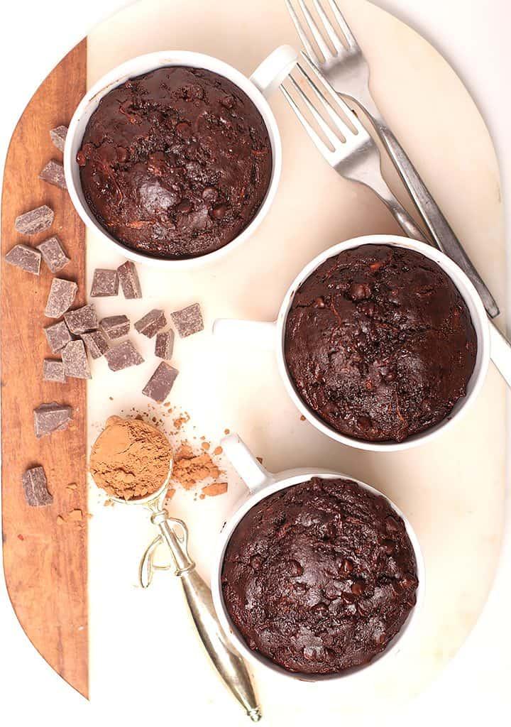individual chocolate zucchini cake