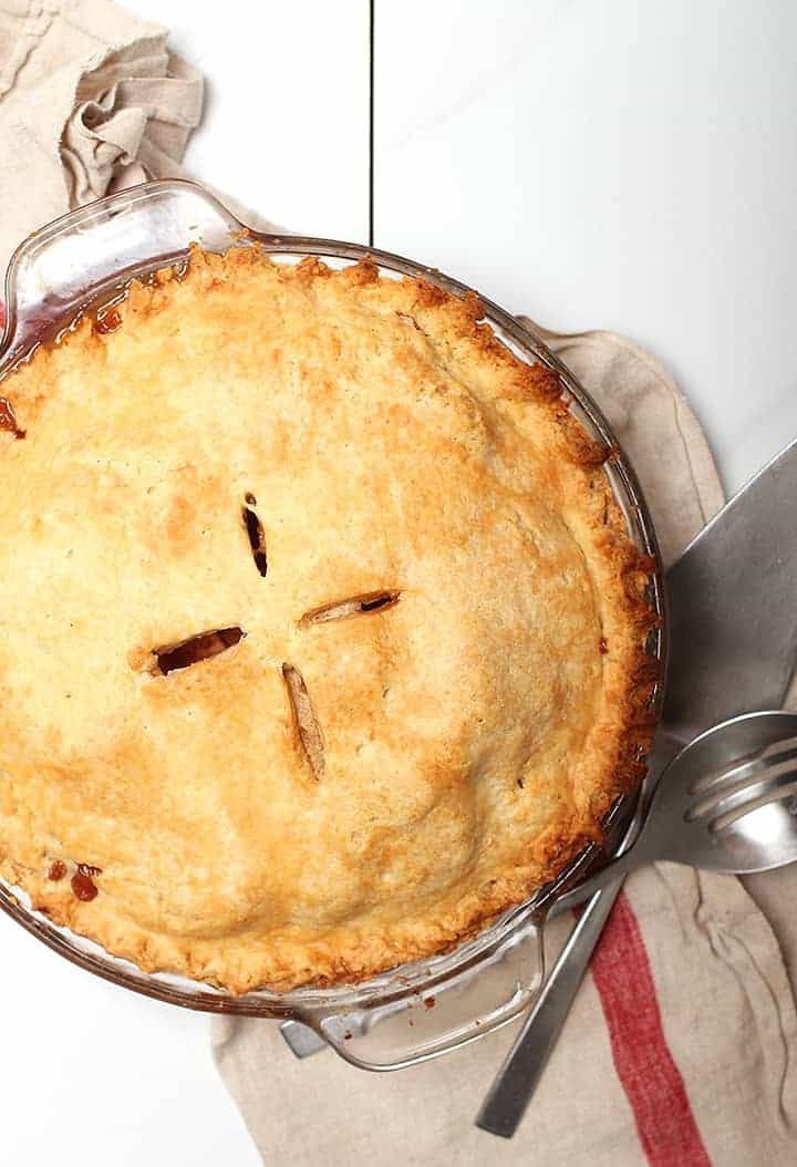 Whole Vegan Apple Pie