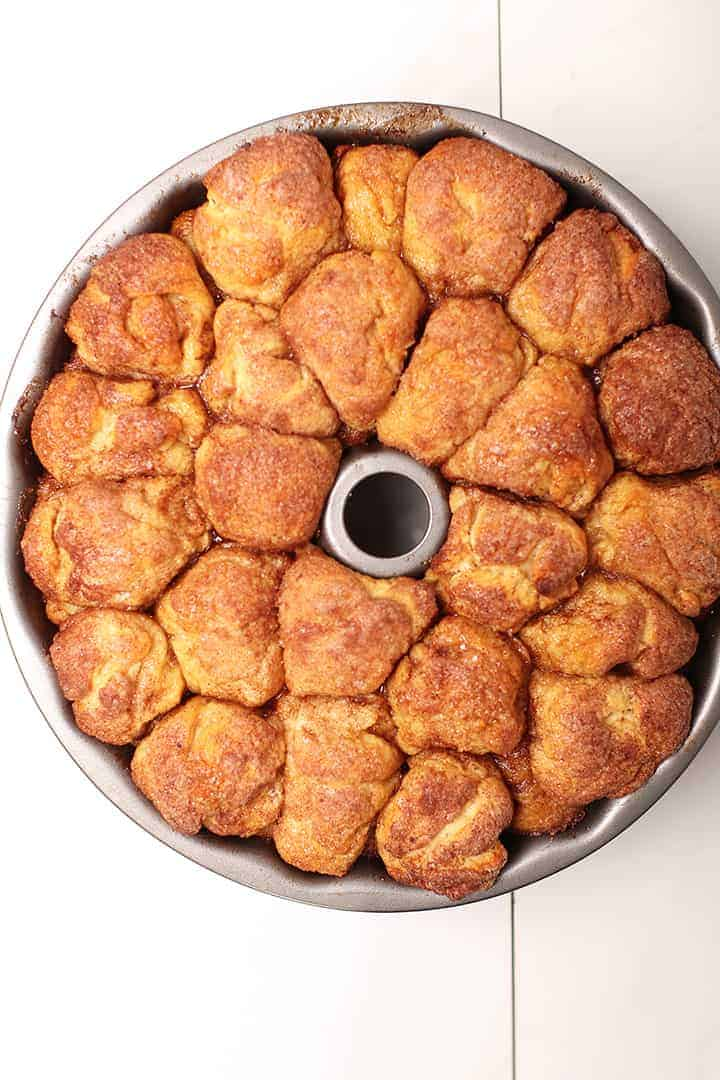 Vegan Monkey Bread in Bundt Cake pan