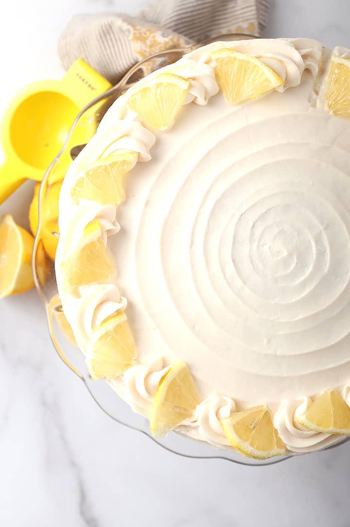 Whole vegan lemon cake