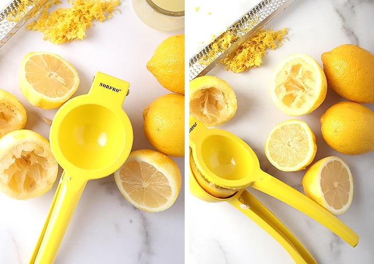 Fresh lemons and lemon zest