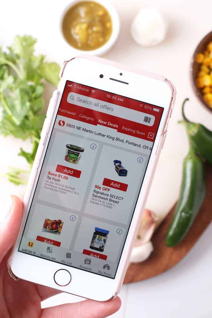 Safeway app on mobile phone