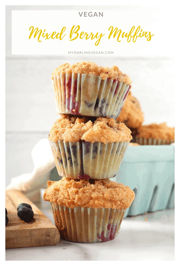 Wake up to these delicious Mixed Berry Muffins. Topped with a buttery crumb topping and baked to perfection, these sweet morning pastries are bursting with flavor.