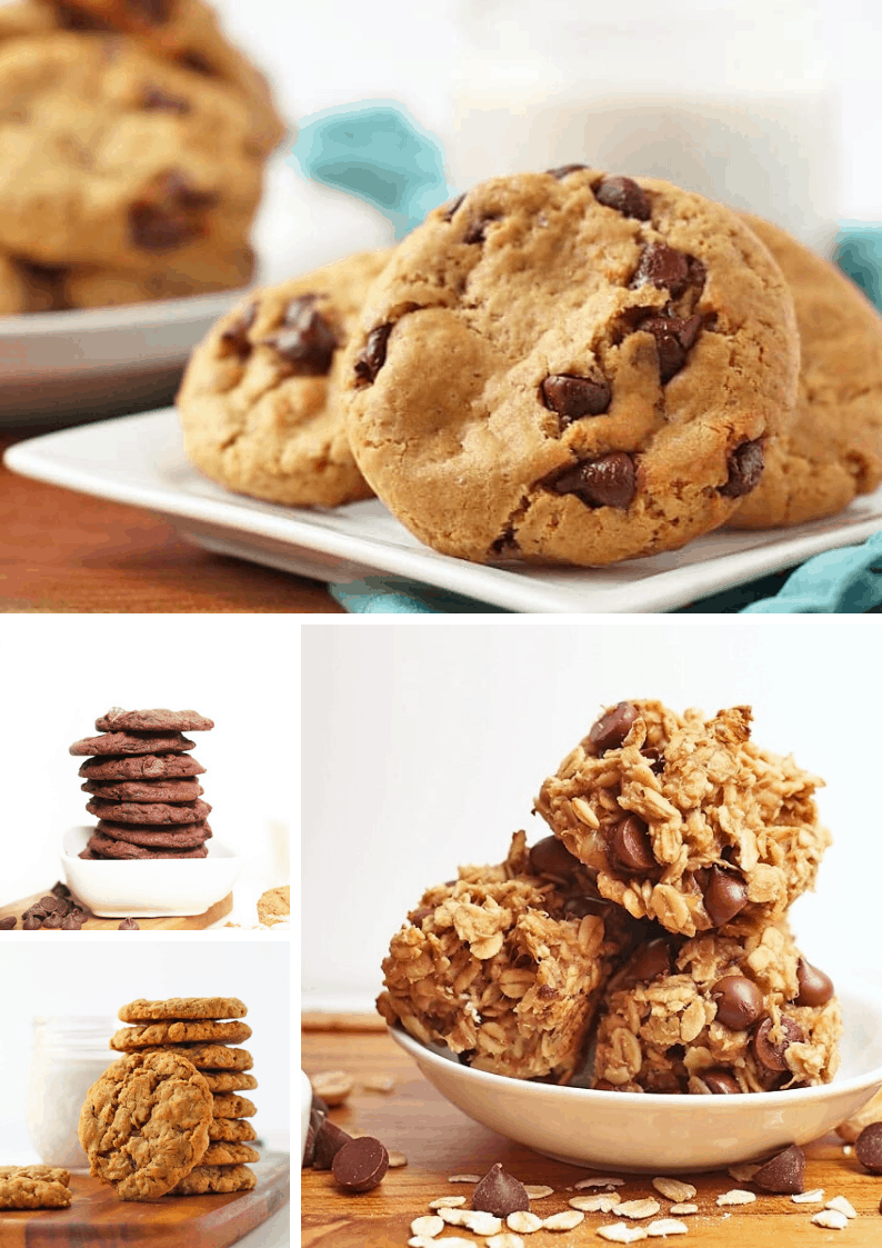 30 of the BEST Vegan Cookie recipes for all your get-togethers this year.  Learn how to veganize any cookie by following the recipes in this guide below. Chocolate Chip Cookies, Oatmeal Cookies, Double Chocolate, and more