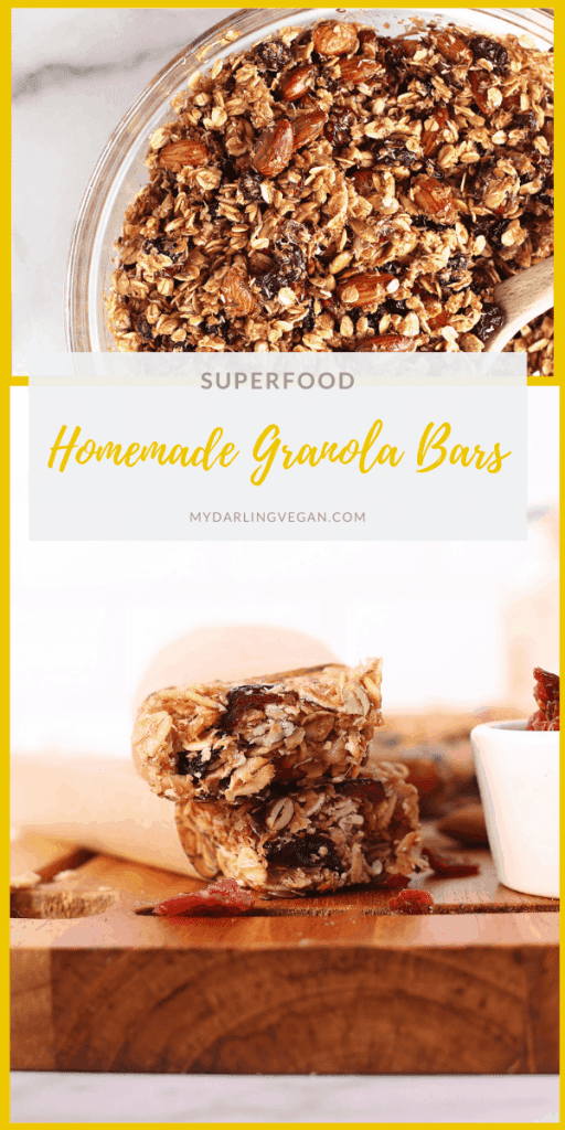 You're going to love these protein-packed homemade granola bars! Sweet, salty, and filled with the best superfoods and proteins, this chewy granola bar recipe is the only one you'll ever need