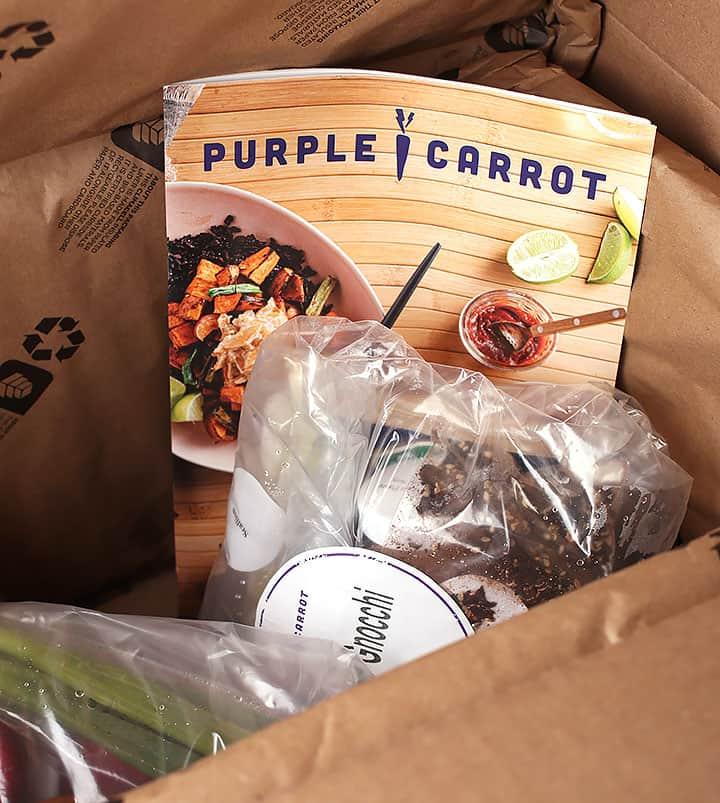 Box of Purple Carrot Food