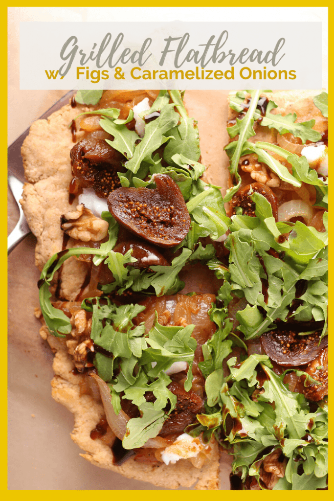 Grilled Flatbread w/ Caramelized Onions and Figs.