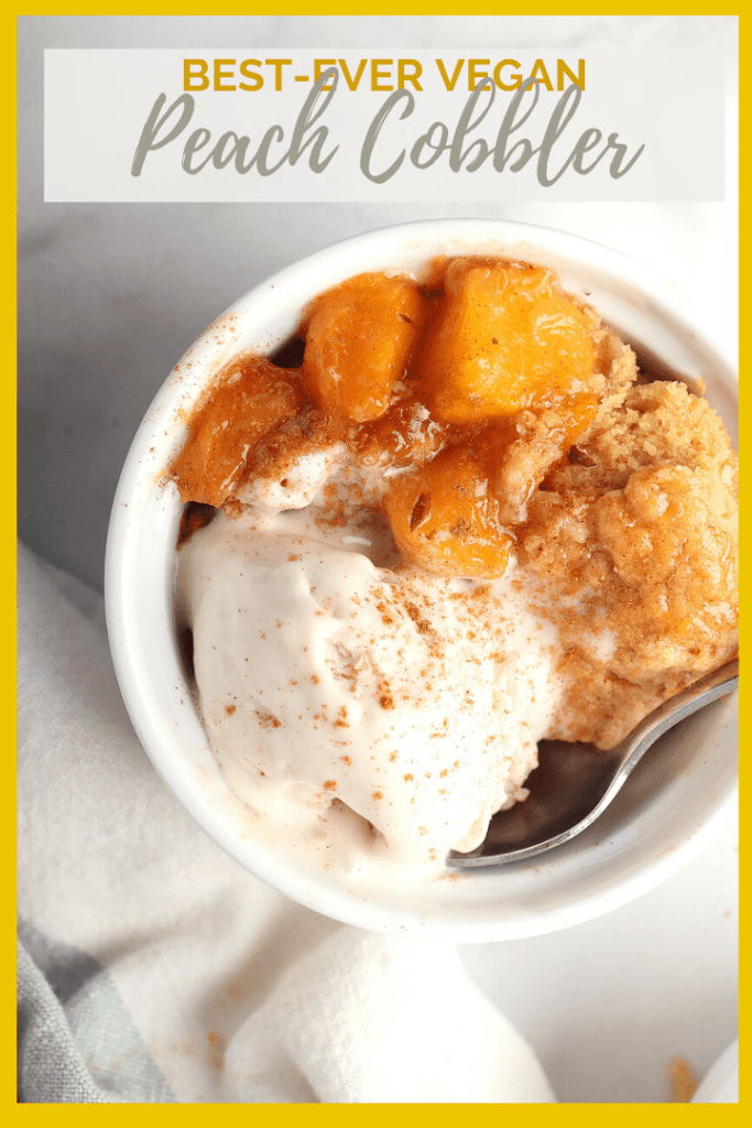 This peach cobbler is an easy and delicious dessert for your backyard barbecues this summer. Serve it with homemade ice cream for a creamy and refreshing sweet treat.