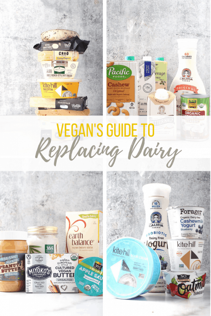Finding dairy substitutions may be the biggest obstacle for people wanting to eat a vegan diet. Here is your complete guide to replacing dairy. With so many store bought and homemade options, going vegan has never been easier!