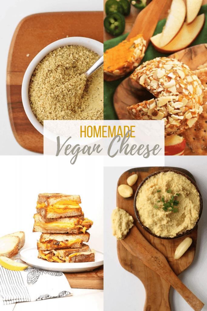 A variety of homemade vegan cheese