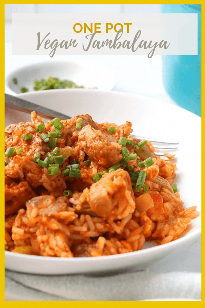 This vegan Jambalaya is a game changer! It's just like the classic dish…but veganized. Made with soy curls and plant-based sausage, this Southern inspired recipe is a treat for the whole family.